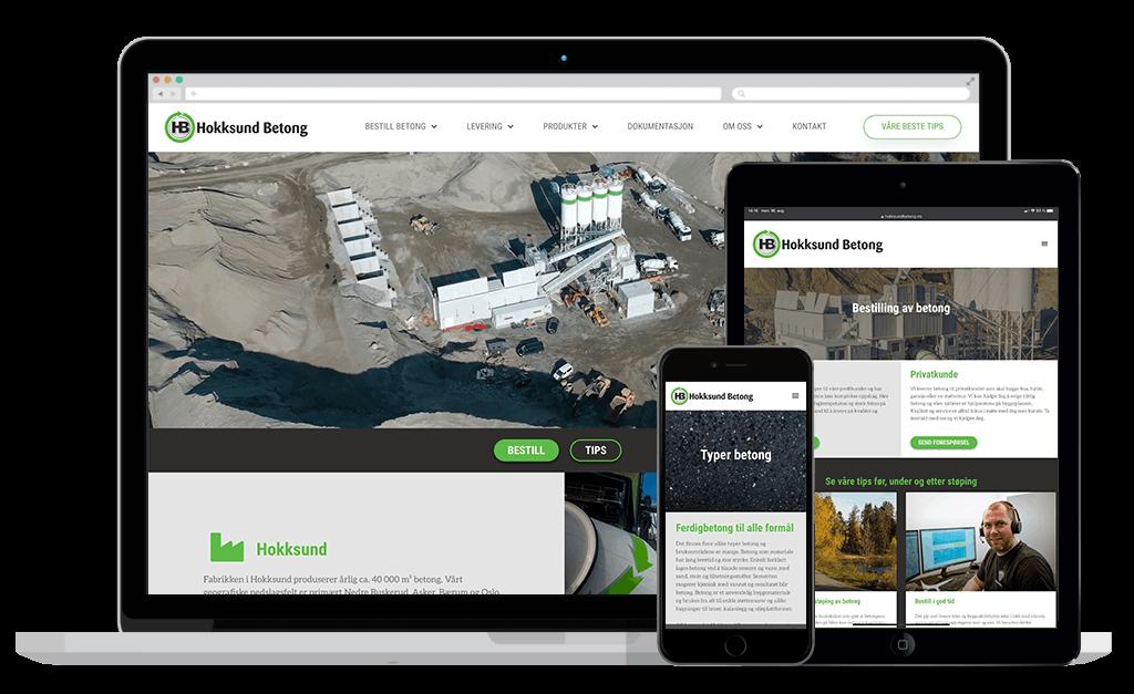 Hokksund Betong webside