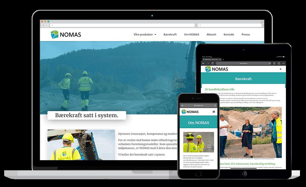 Nomas (Norsk Massehåndtering) webside